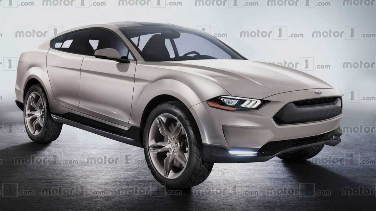 Ford Mustang Electric Render