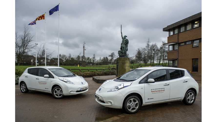 Northumberland County Council Greens Its Fleet With 2 Nissan LEAFs