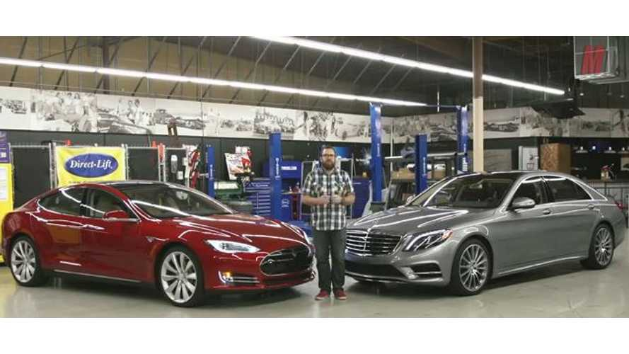 Head To Head Comparison: 2014 Tesla Model S Versus 2014 Mercedes-Benz S550 - Video