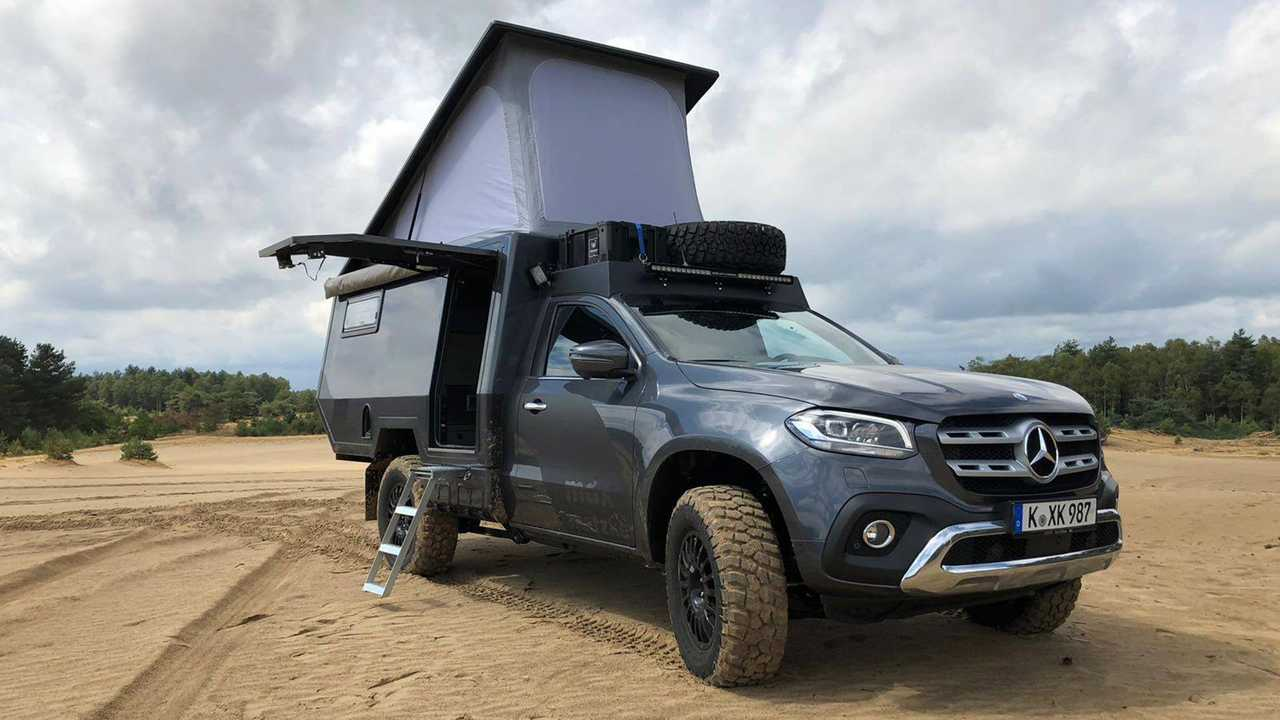 fully loaded mercedes x class camper costs 205 000. Black Bedroom Furniture Sets. Home Design Ideas