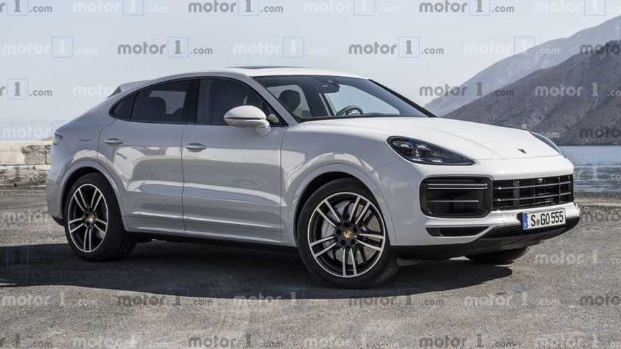 Porsche Cayenne Coupe rendered to fight BMW X6