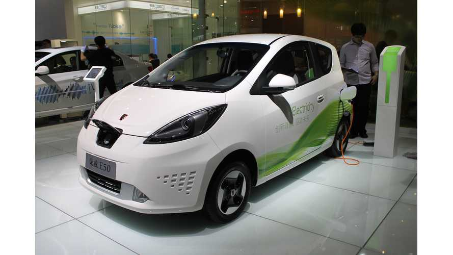 China EV/PHEV Market Grew by 42.7% in First Half of 2013