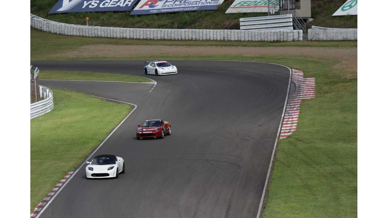 Tesla Roadsters Dominating at All Japan EV-GP Series