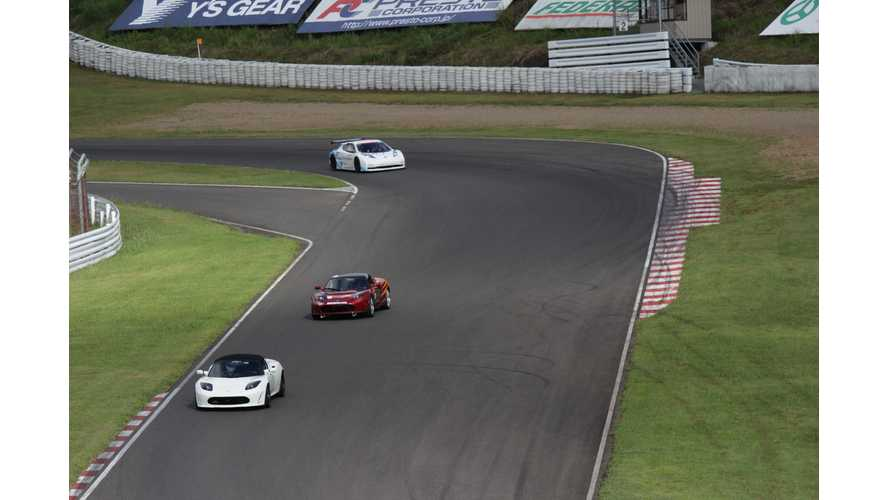 Tesla Roadsters Dominating at All Japan EV-GP Series