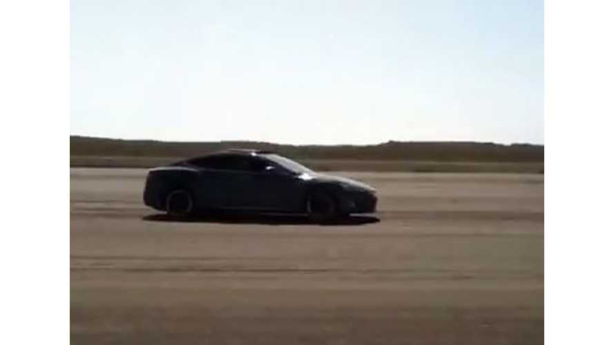 Video: Autocrossing a Tesla Model S Minus Traction Control