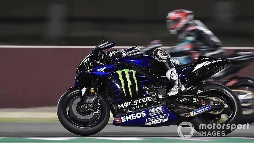 Viñales y Rins lideran los test de Qatar; Lorenzo, a dos segundos