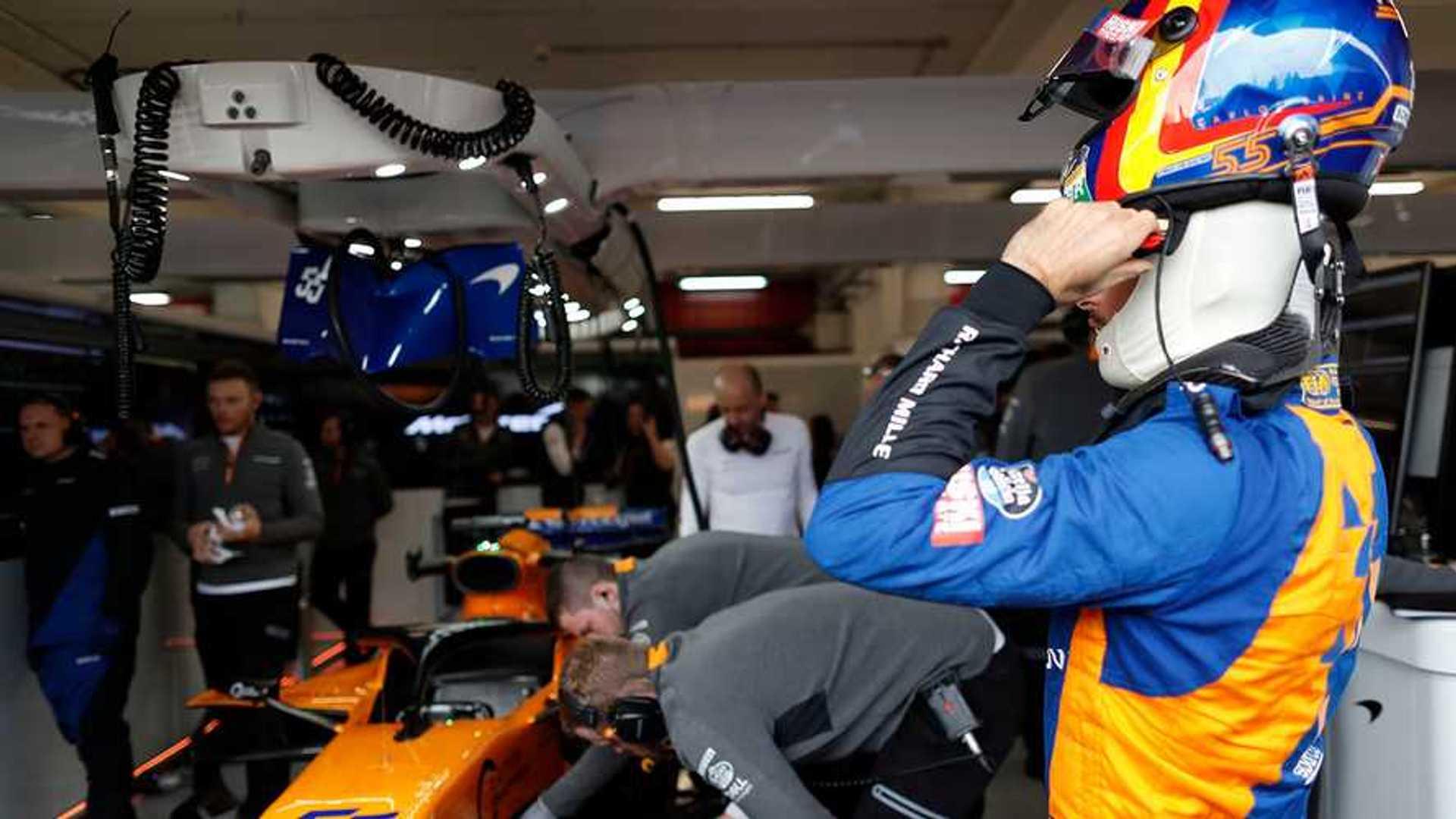 Three treated after McLaren garage fire in Barcelona