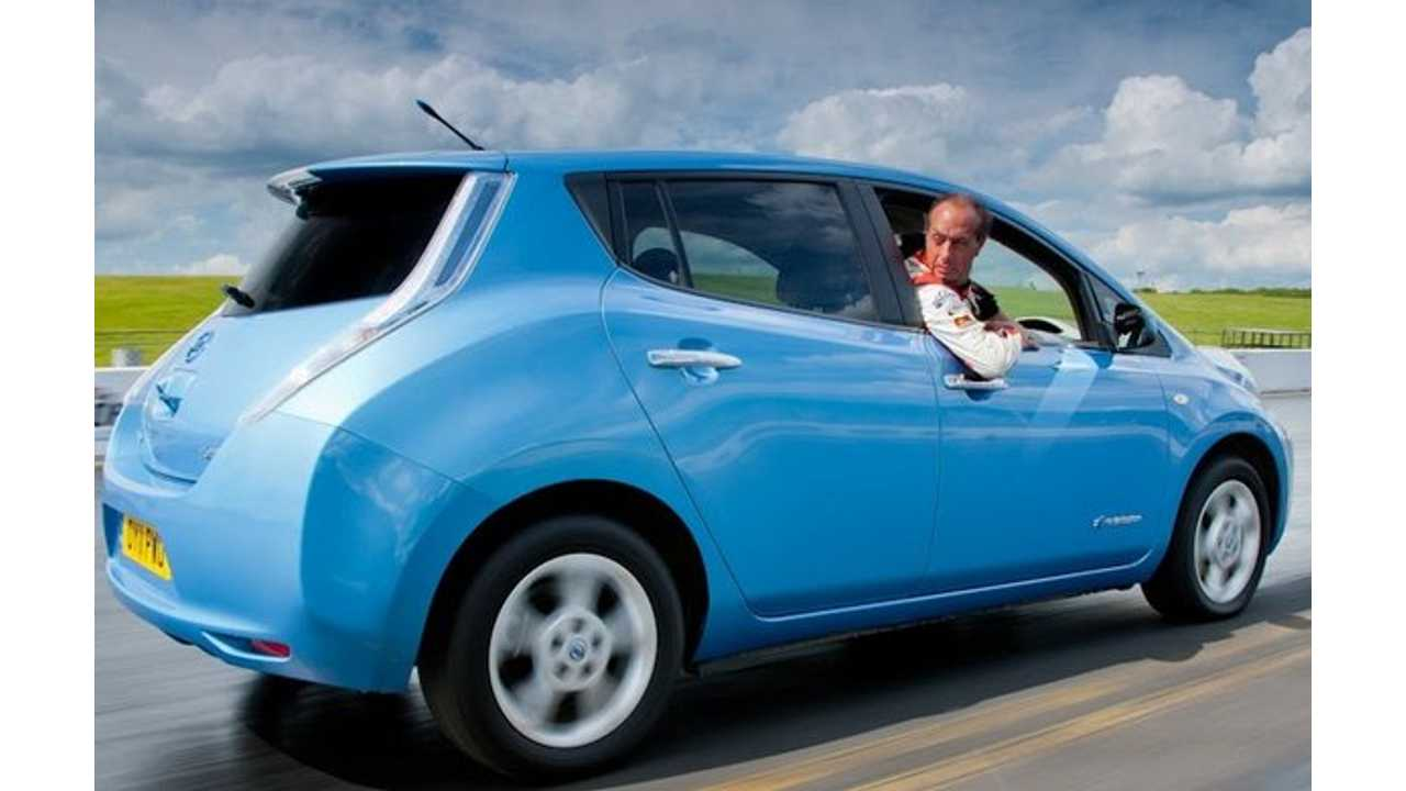 Nissan LEAF To Set Guinness World Record:  In Reverse