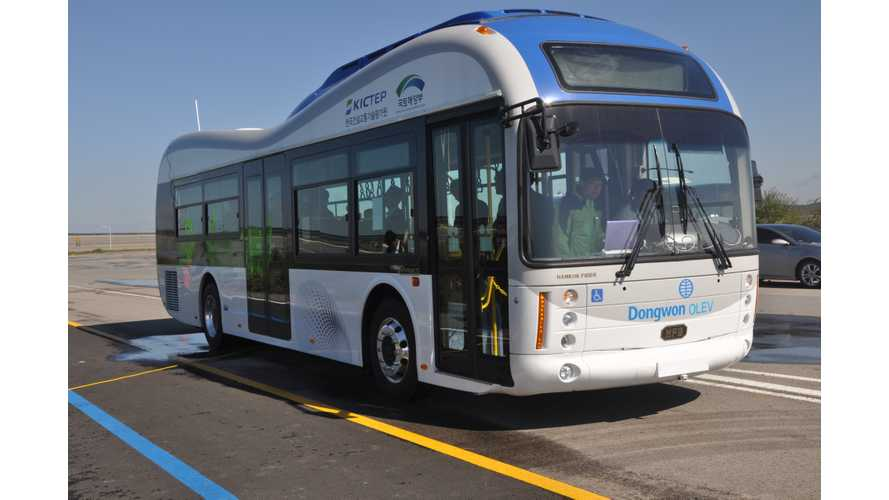 First-Ever Wireless Electric Buses Recharged Through the Road Begin Public Transportation Services (w/videos)