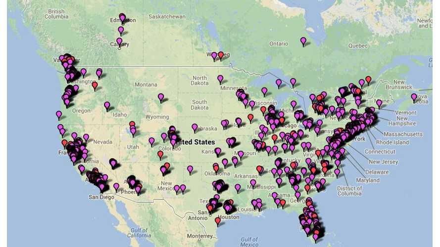 Ever Wonder Where All of the Tesla Model S Sedans Are in the US?