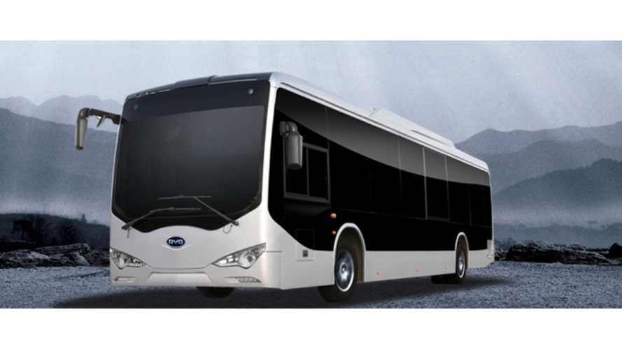 BYD Secures Nottingham Electric Bus Tender