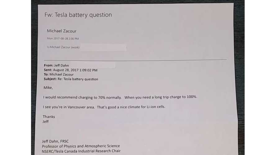 Tesla Battery Expert's Recommendation For Maximum Battery Life - Video