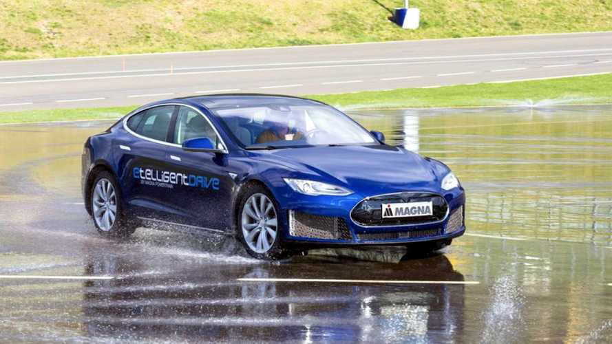 Magna States Its Three-Motor Tesla Model S Out Handles Stock Version