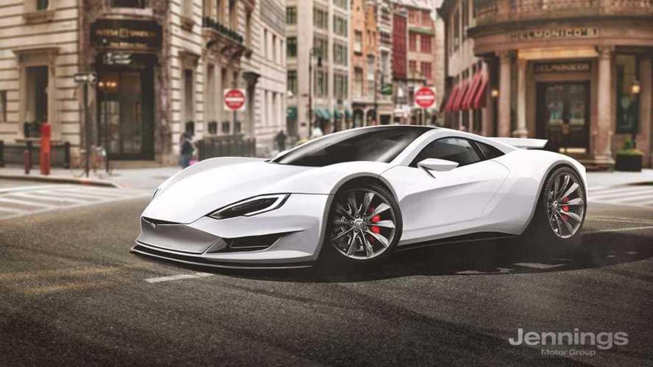 Tesla Supercar Rendered