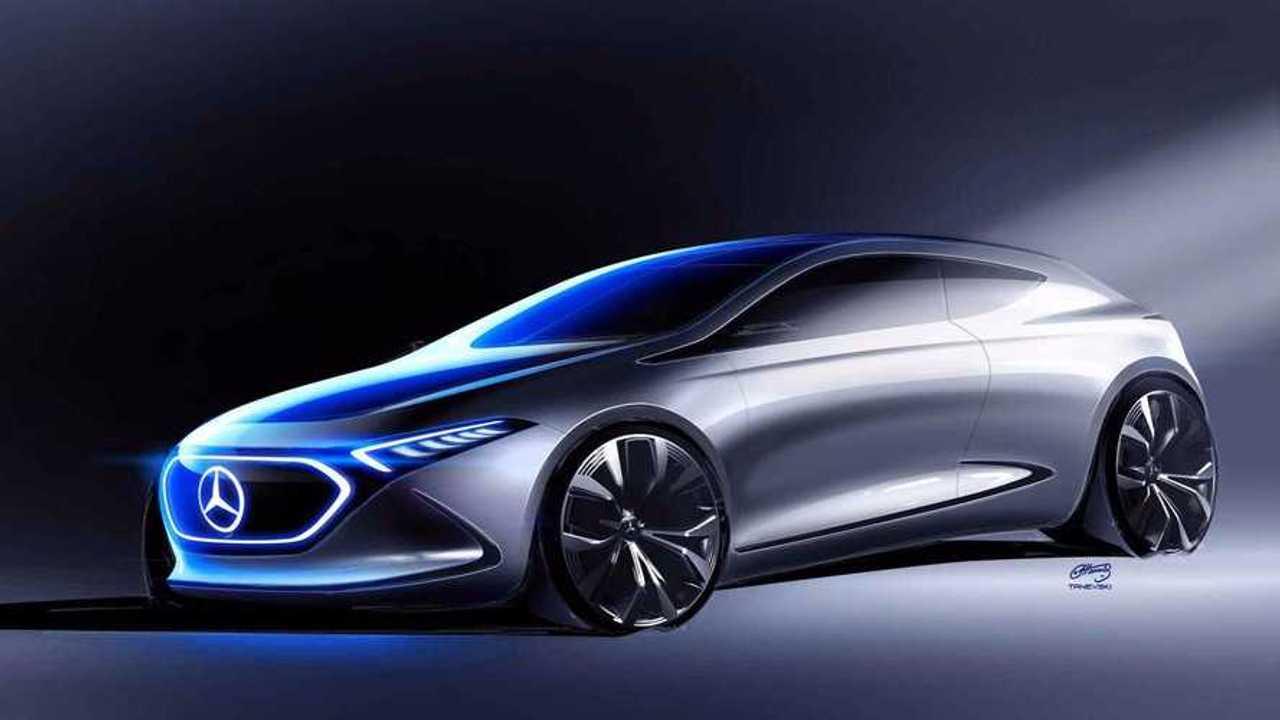 Mercedes-Benz Releases New EQ A Electric Car Teaser