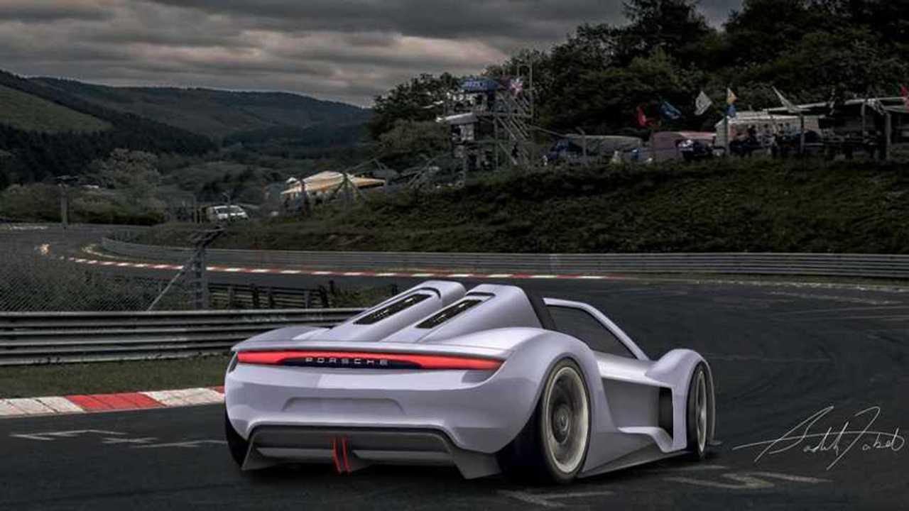 Fan Rendered Porsche 918 Successor Is A Taycan On Steroids
