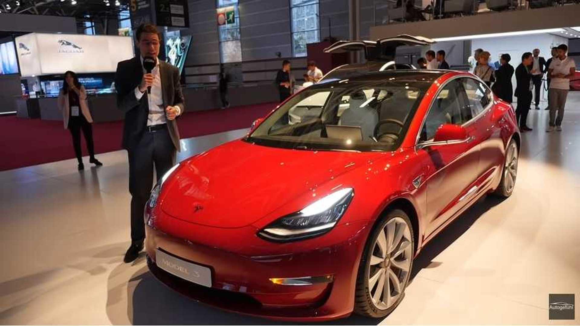 Autogefühl Checks Out The Tesla Model 3 In Paris