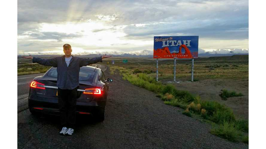 Tesla Model S Owner Drives All 50 U.S. States (Tests Offroading in Utah)