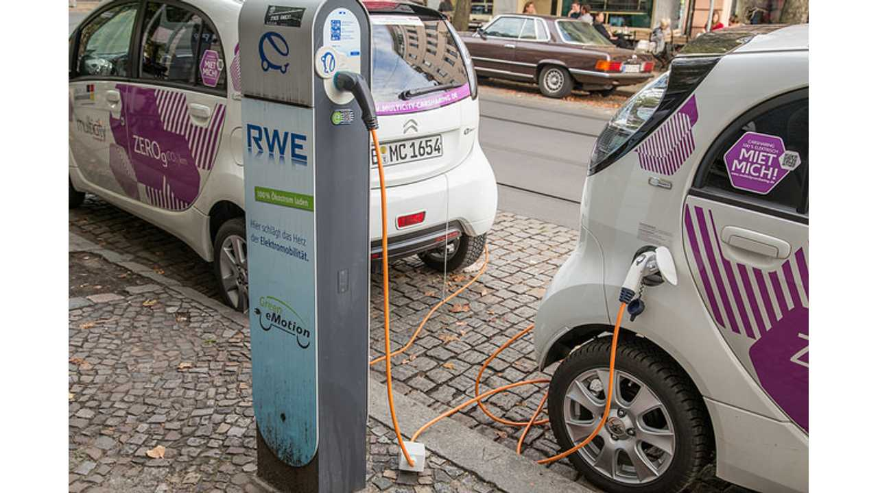 <em>Another sign of the times: RWE, Germany's biggest gas and energy provider, just launched hundreds of electric vehicle charging stations (Source: <a href=