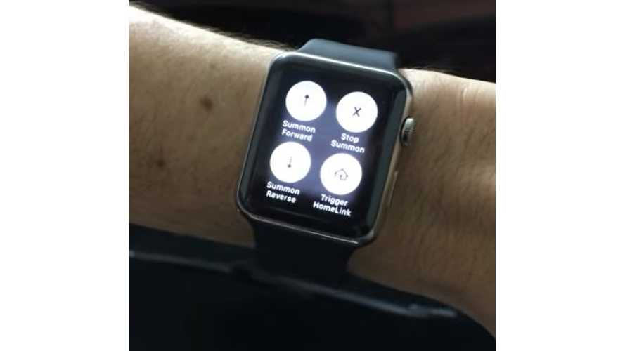 Summon Tesla Model S From Apple Watch - Video