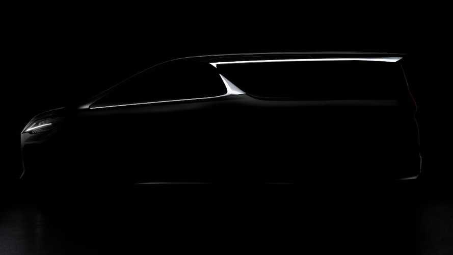 Lexus LM Minivan Teaser Hints It's Based On Toyota Alphard