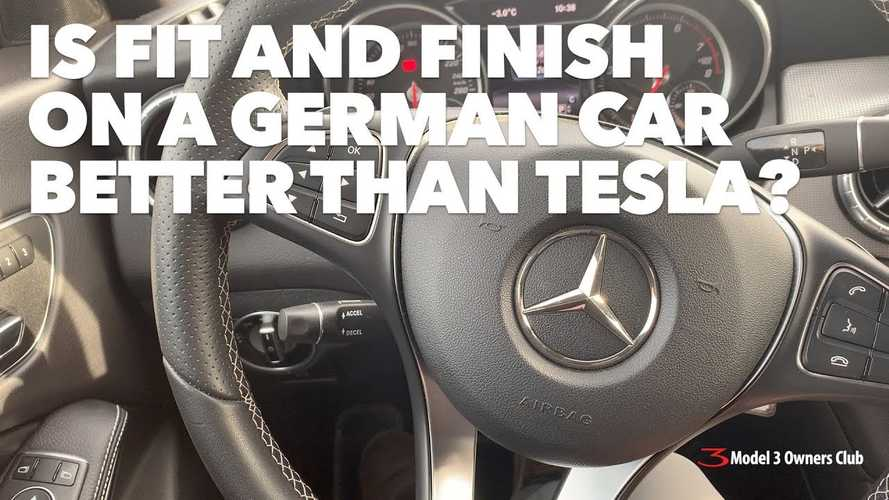 Video: How Does Tesla Fit & Finish Compare To A German Car?