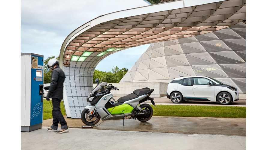 BMW C Evolution Electric Scooter Uses New BMW i3 (94 Ah) Battery, 100 Miles Range