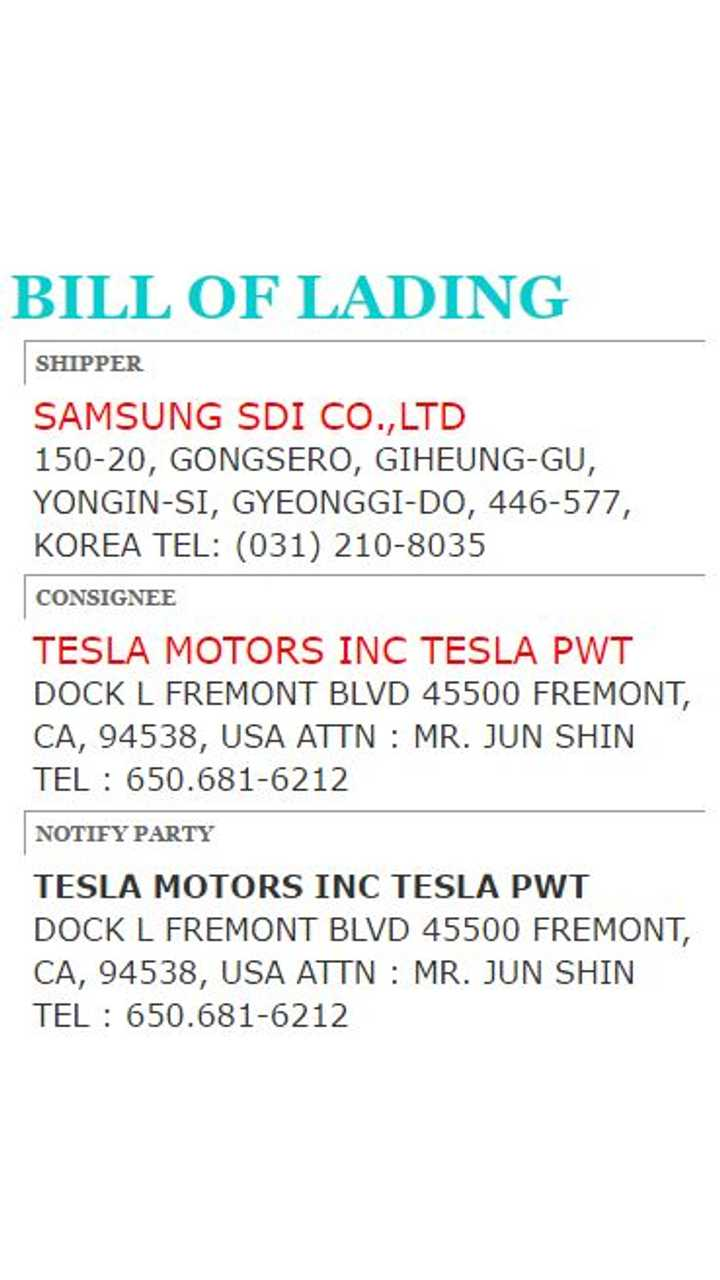 Exclusive: Tesla Takes Delivery Of 1.74 Million Samsung Battery Cells