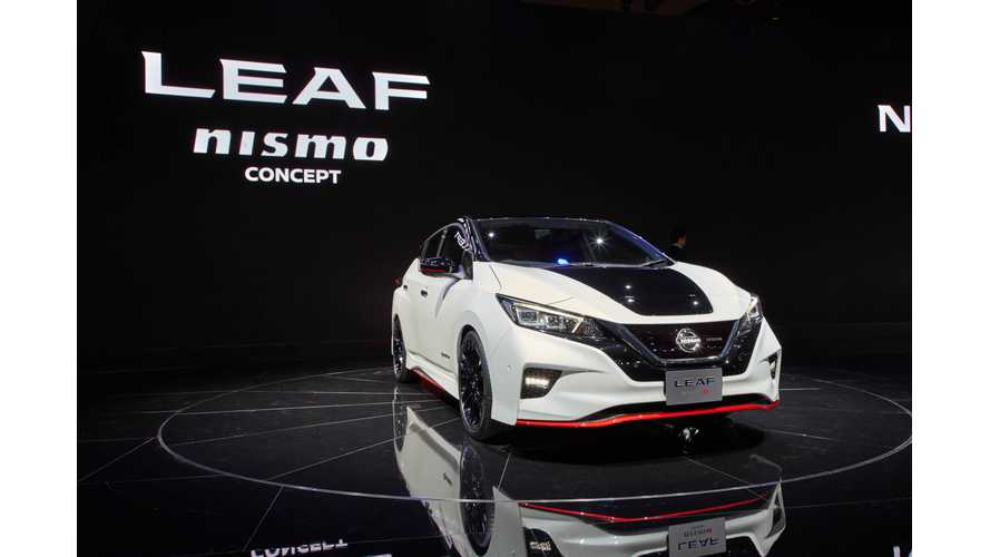 Sporty Nissan LEAF Nismo Debut - Live Videos From Tokyo