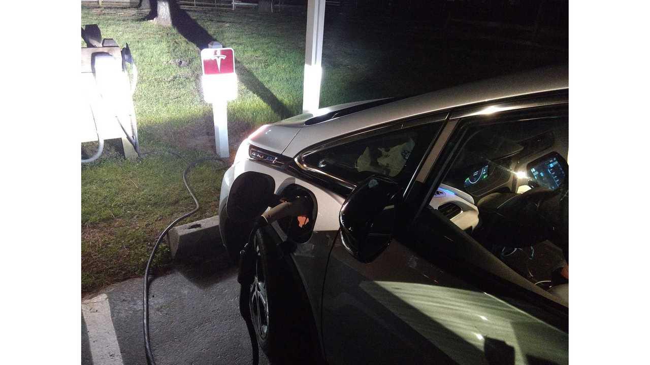 bolt ev at tesla destination charger via Brian R BR4