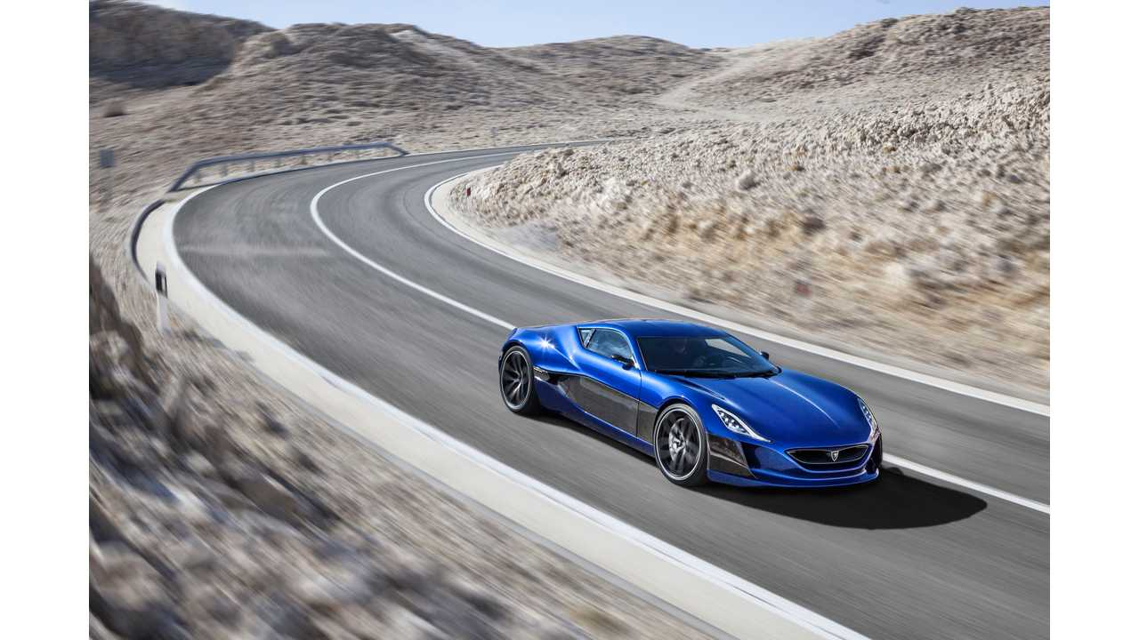 Rimac Concept_One on the island of Pag