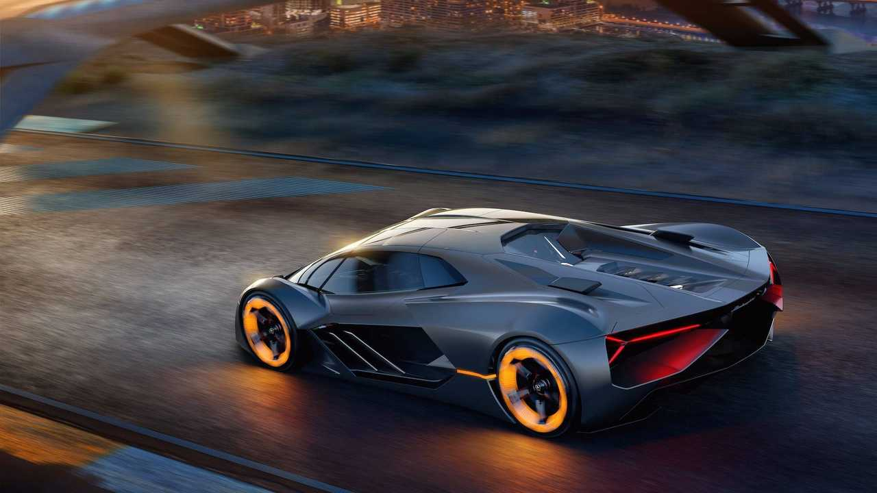 Electric Lamborghini Terzo Millennio Houses Battery In Body, Sports 4 In-Wheel Motors