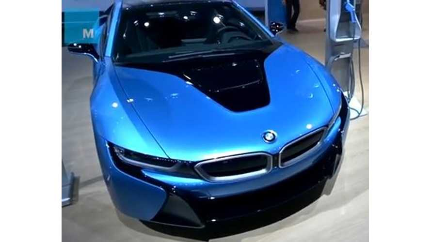 BMW i8 Seen Through Google Glass - Video