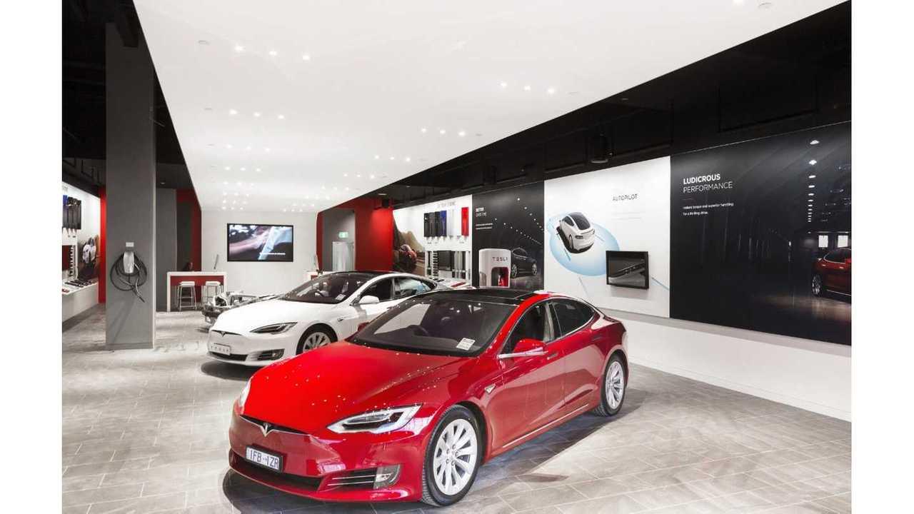 Typical Tesla store showroom