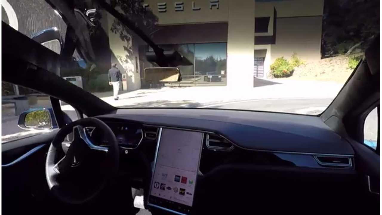 A self-driving Model X with new enhanced hardware was demonstrated by Tesla in October