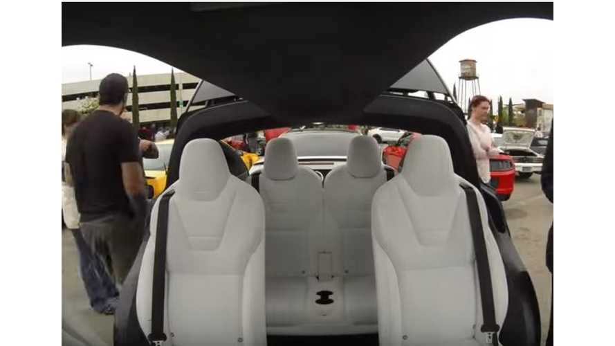 Tesla Model X At Cars And Coffee - Video