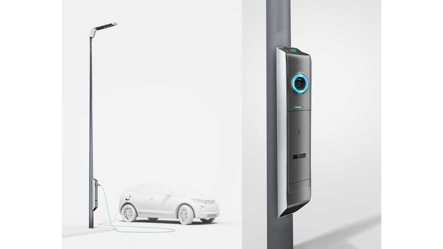 BMW Develops Street Lights With EV Charging Outlets