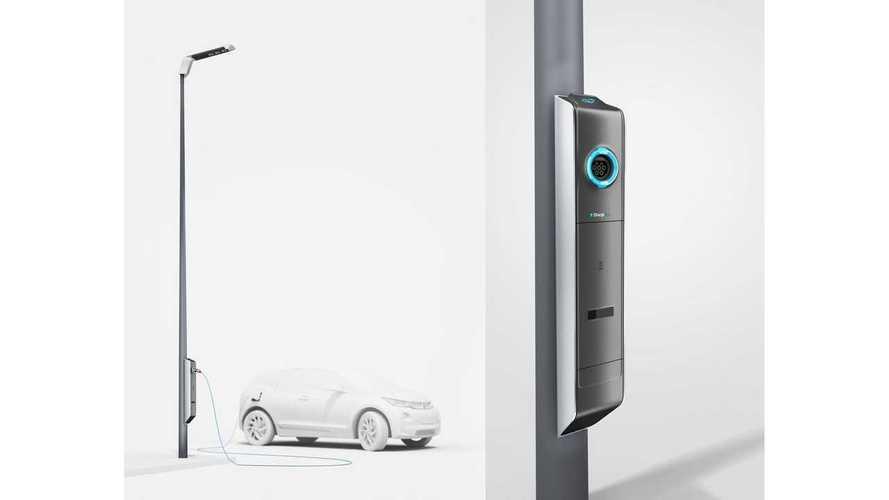 BMW Develops Street Lights With EV Charging Outlets