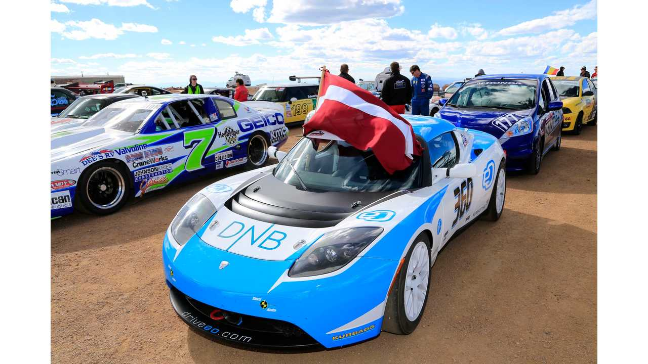Images From Pikes Peak: Drive eO Tesla Roadster