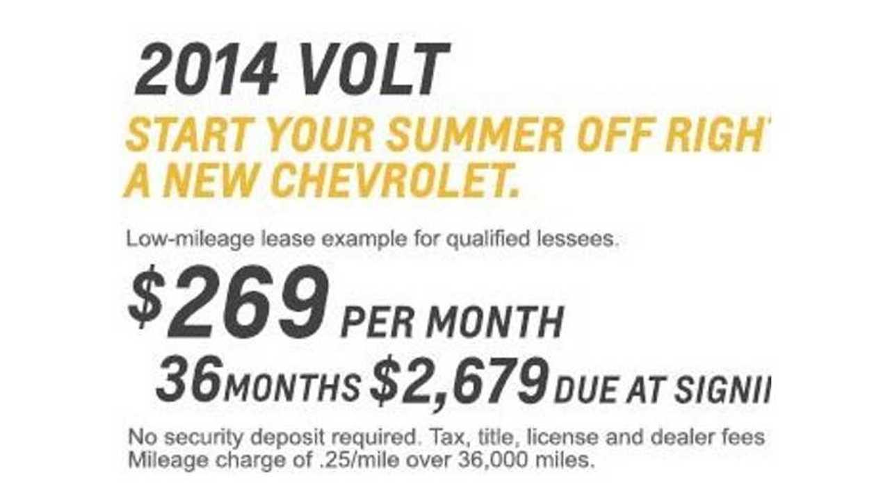 2014 Chevy Volt Lease Deal