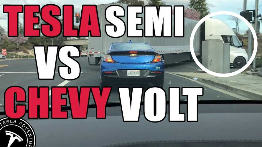 Tesla Semi Acceleration Blows Away Chevy Volt: Video