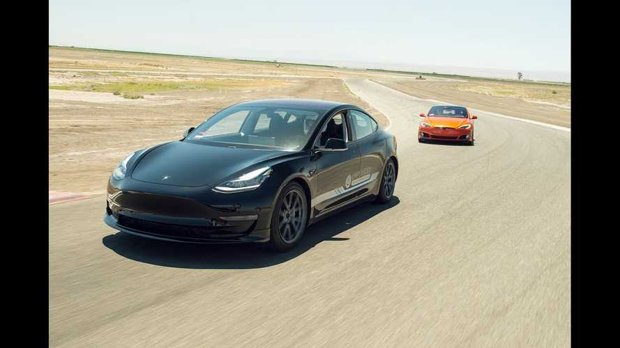 Watch Unplugged Performance Tesla Model 3 & S On The Track