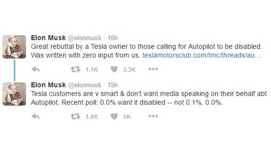 Elon Musk Commends Tesla Owner's Rebuttal To Consumer Reports' Call To Disable Autopilot