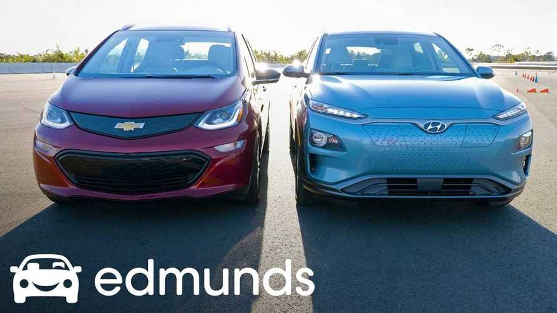 Edmunds Compares Hyundai Kona Electric To Chevy Bolt