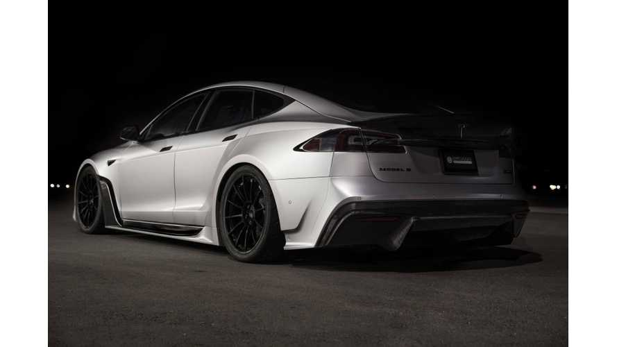 Widebody Tesla Model S, Electric Chevy Camaro Shine At SEMA 2018