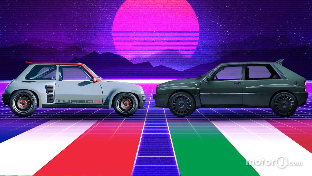 Renault 5 Turbo 3 VS Automobili Amos Delta Futurista