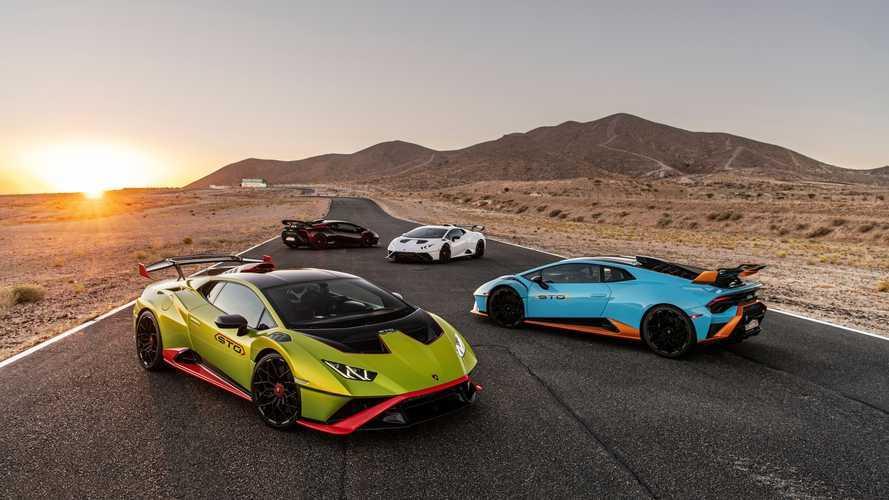 Lamborghini Huracan STO otobanda bir şeyler deniyor