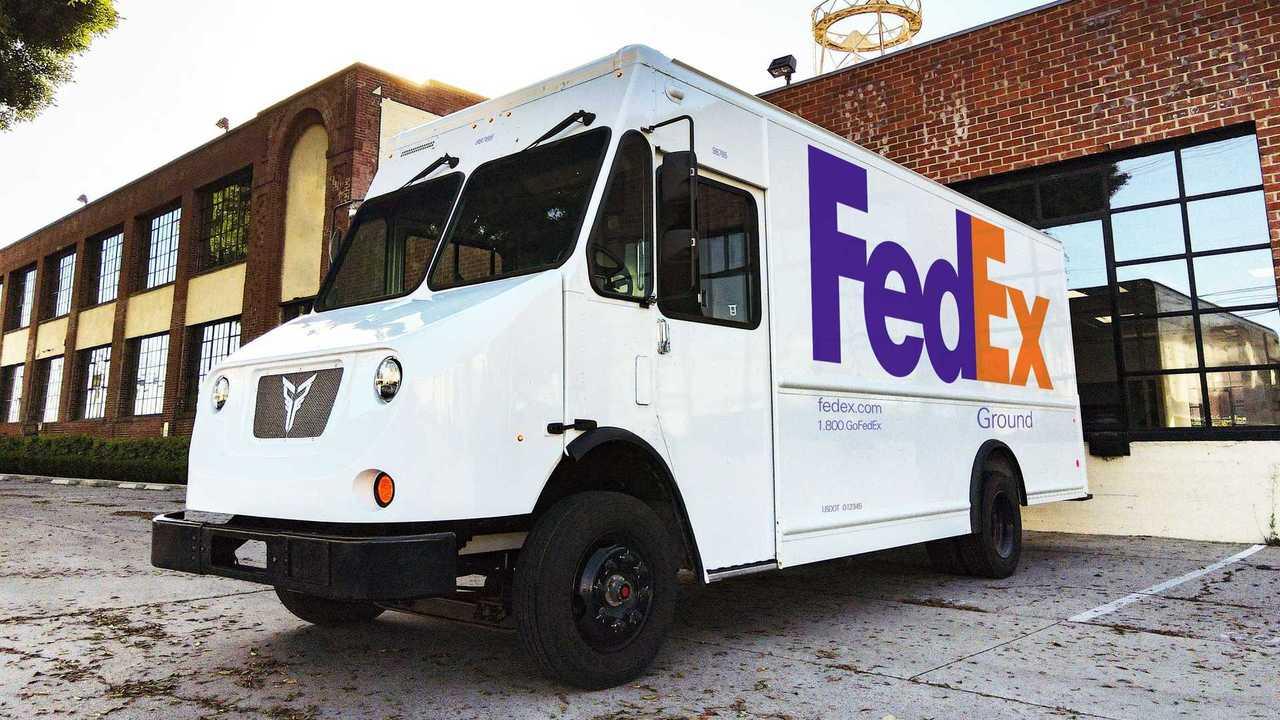Xos electric truck in FedEx fleet