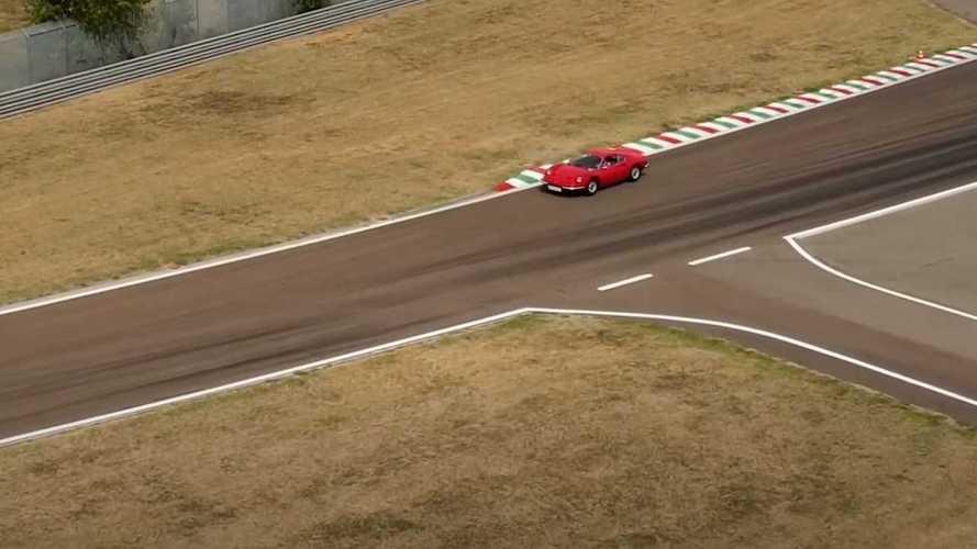 Carlos Sainz con el Ferrari Dino 246 GT