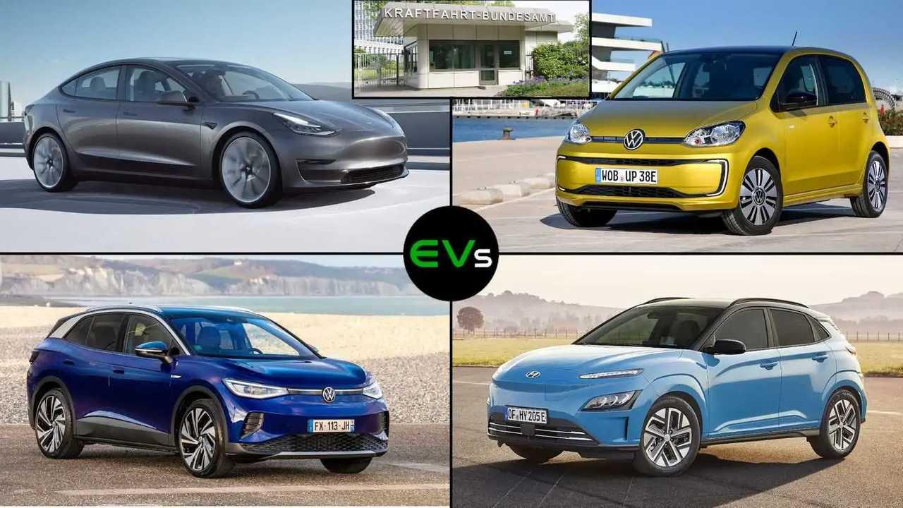Elektroauto-Zulassungen von Januar bis August 2021
